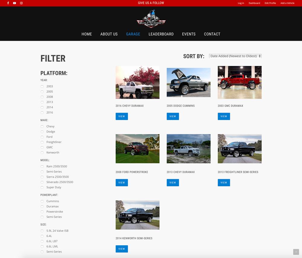 BRWT garage platform page