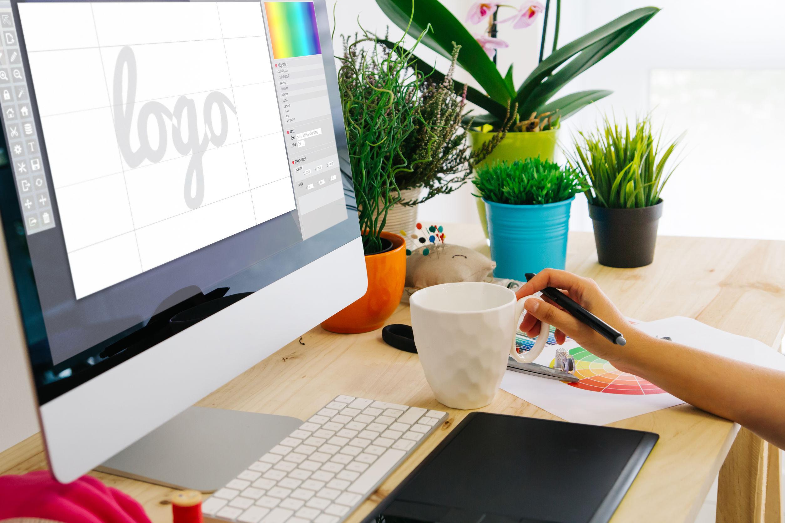 computer screen logo design